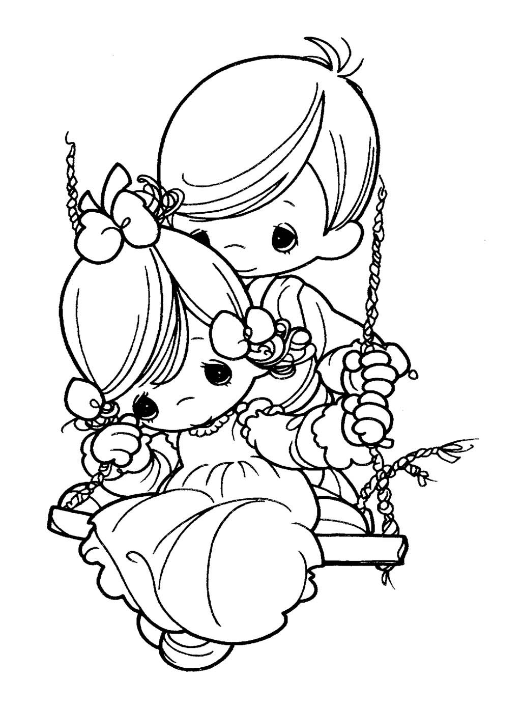 Precious Moments Always With Coloring Pages For Kids | Kids Coloring ...