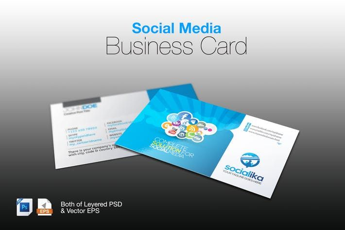 Social media business card by graphicartist design resources social media business card by graphicartist colourmoves