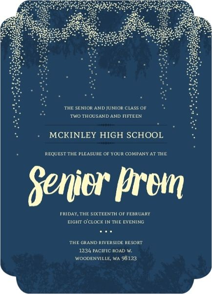 Whimsical Outdoor Night Light Prom Invitation Prom Ideas
