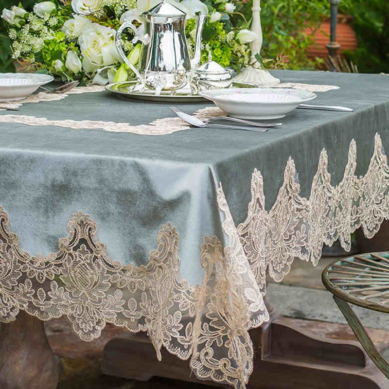 Table Runner Elegant Lace Home Decoration TV Cabinet Coffee Table Tablecloth
