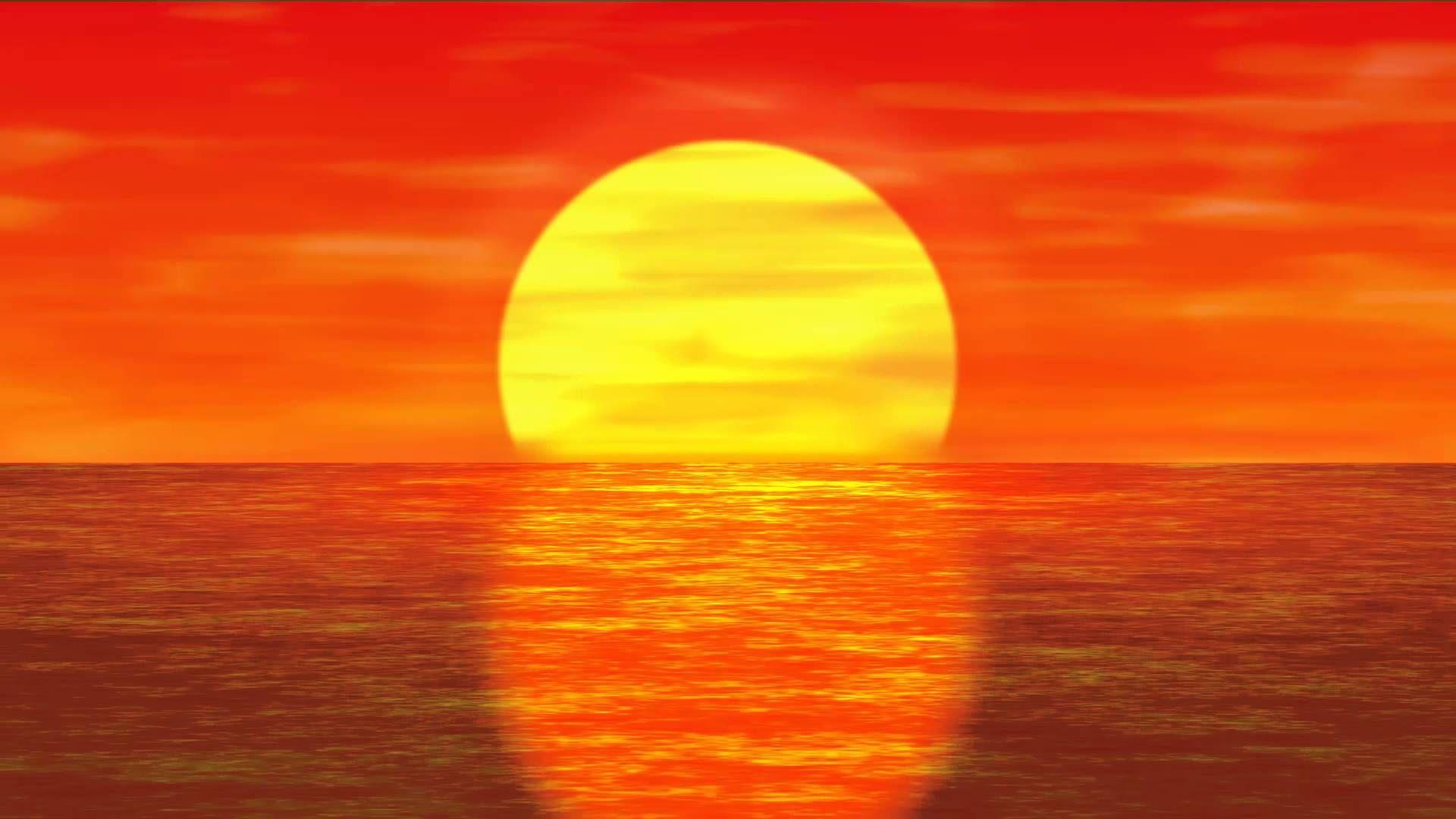 Фото анимашки на мобилку закат солнца