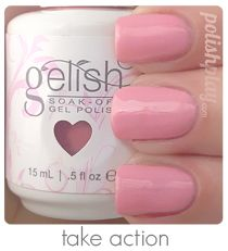 Gelish gel nail polish swatch light pink. Take Action from the ...