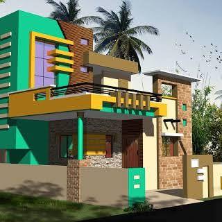 Image Result For Dk 3d Single Floor Small Home Design Jk House