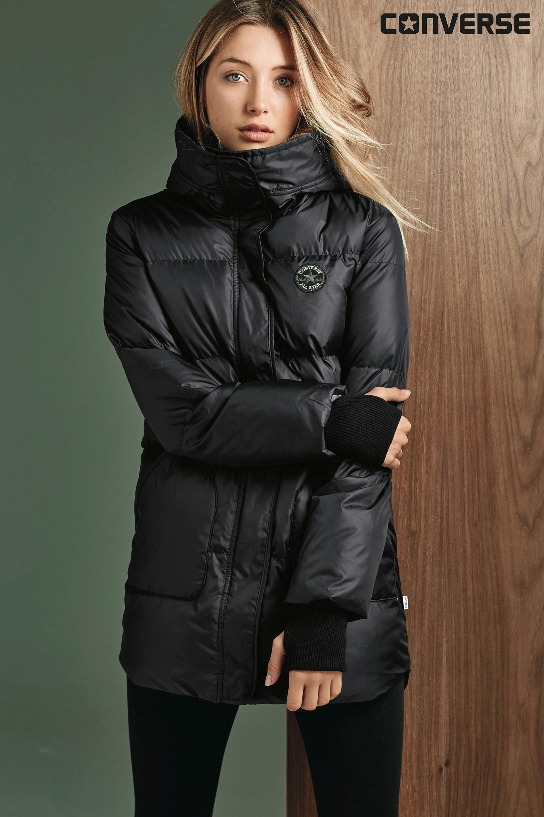 e352189ac Buy Converse Black Puffer Jacket from the Next UK online shop ...