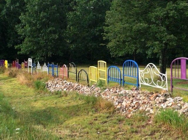 Bed Board Fence Fun Backyard Fun Diy Garden Garden