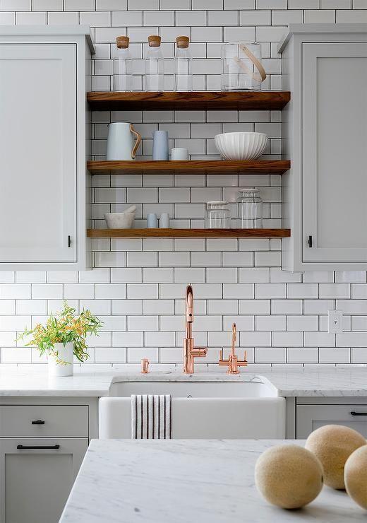 Light Gray And White Kitchen Design Kitchen Sink Lighting Farmhouse Sink Kitchen Farmhouse Kitchen Decor