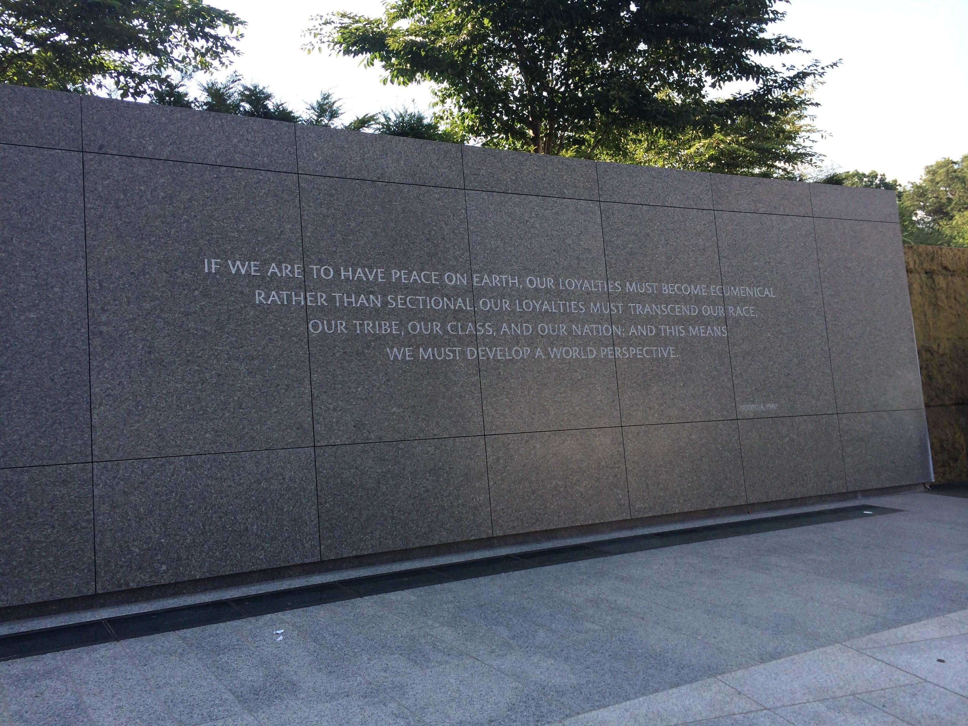 Mlk Jr Memorial Mlk Jr Peace On Earth Mlk
