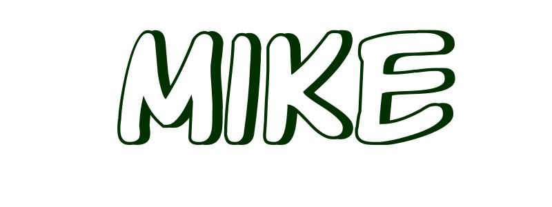 Coloring Page First Name Mike Name coloring pages