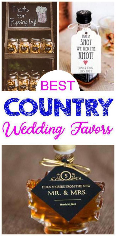 Country Wedding Favors Country wedding favors, Best