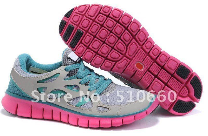 Nike Libre Gris Vert Rose