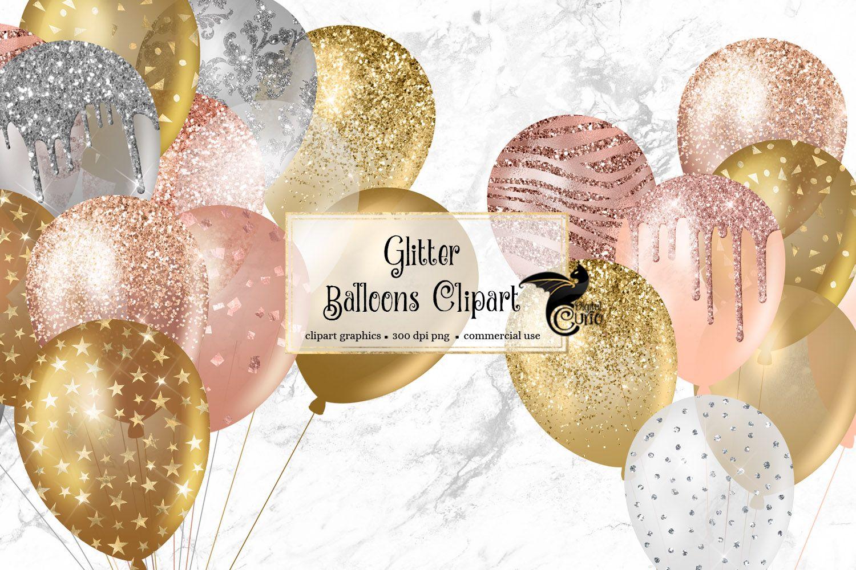 Glitter Balloons Clipart 419246 Patterns Design Bundles