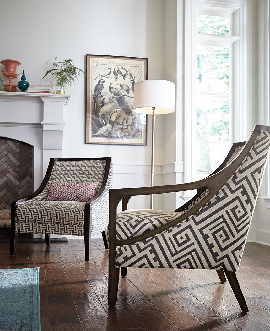 Landor Printed Accent Chair Chairs Amp Recliners