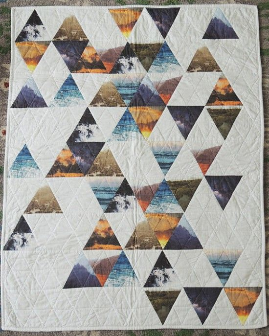 Baby blanket with geo mountain pattern – Lord and Little boho kids – hipster toys for kids   Small for Big