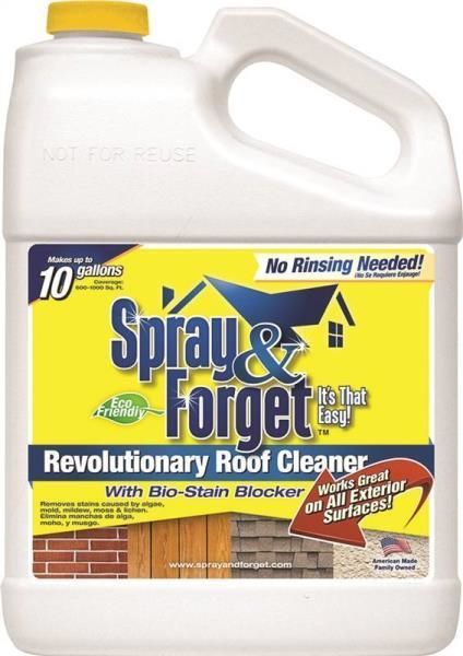 Cleaning Products 20605 New Spray And Forget Sf1g 3 Gallon Concentrate Mildew House Roof Cleaner 8407389 Buy It N Mildew Remover Roof Cleaning Mold Remover