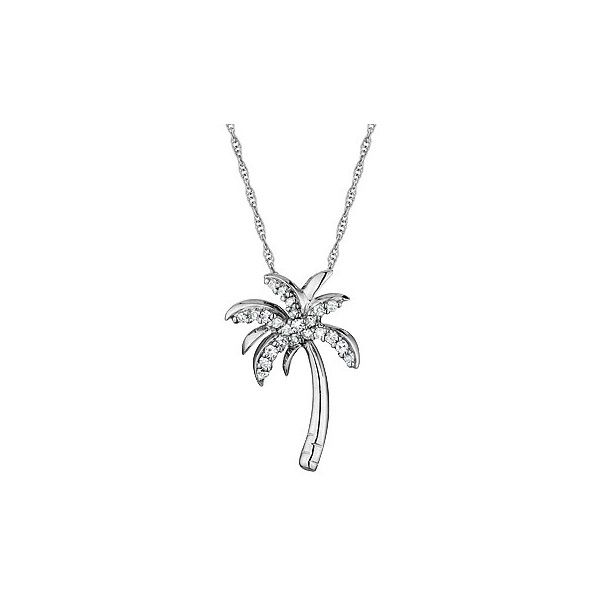 Reeds white gold diamond palm tree pendant necklace jewelry reeds white gold diamond palm tree pendant necklace mozeypictures Gallery