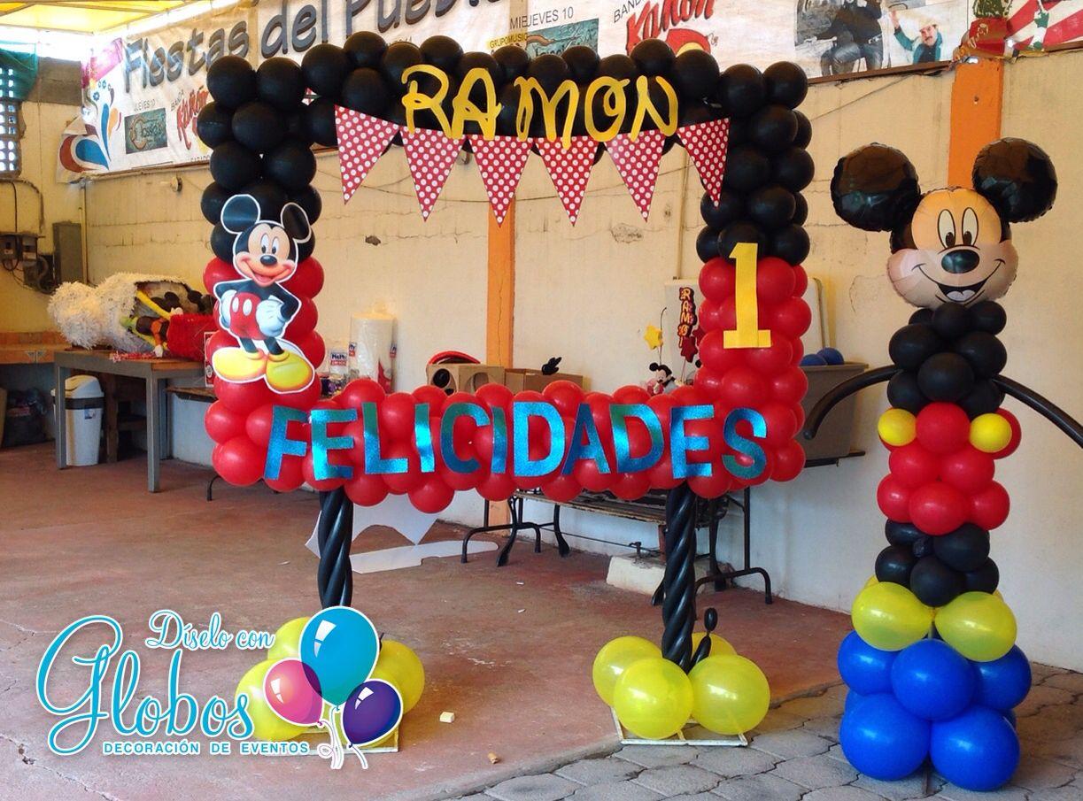 Magic pic marco tematico de globos mickey mouse diselo - Globos para fiestas ...