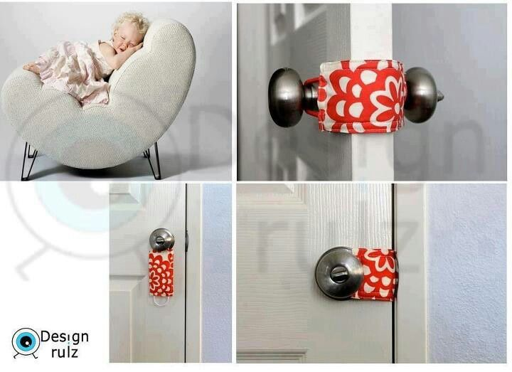 Door Stopper To Prevent Door Slamming And Disturbance Just A Simple Cotton Face Mask Does The Trick U Can Simply Adjust The Ear Loop If T Diy Door Design Diy