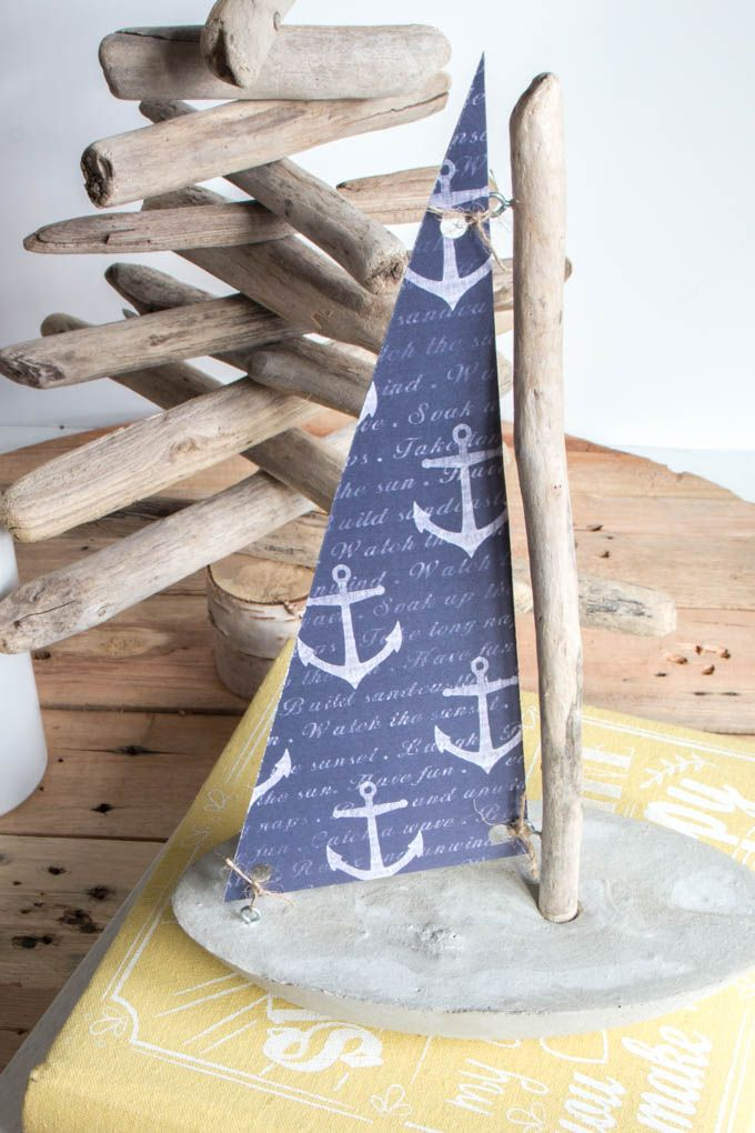 Photo of Making a Concrete and Driftwood Sailboat and other DIY Nautical Decor