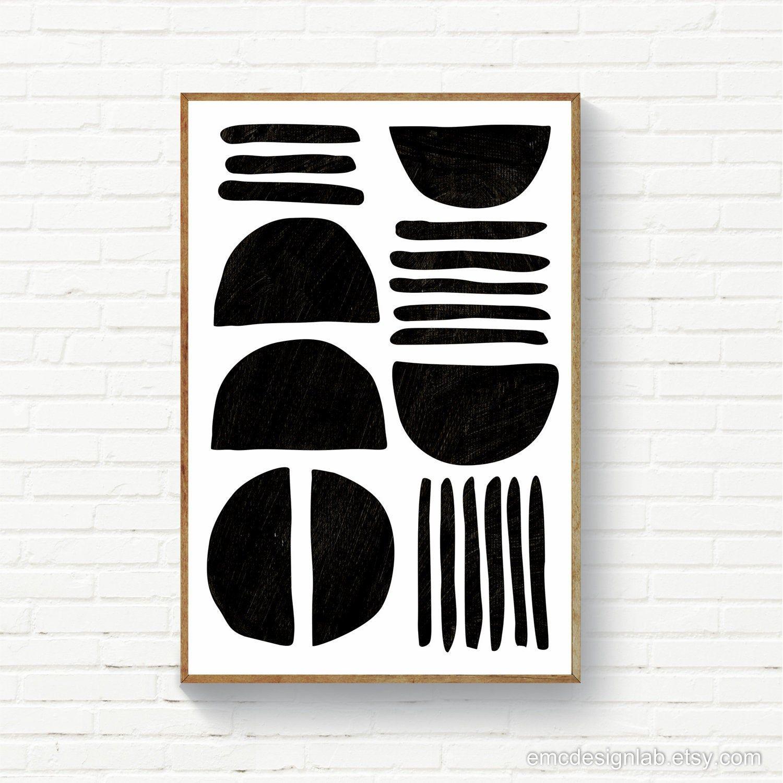 Large Size Black White Print Scandinavian Poster Bold Black White Wall Art Bold Black Prints Scandi Decor 24x36 Printable Art In 2020 Black And White Wall Art Original Wall Art