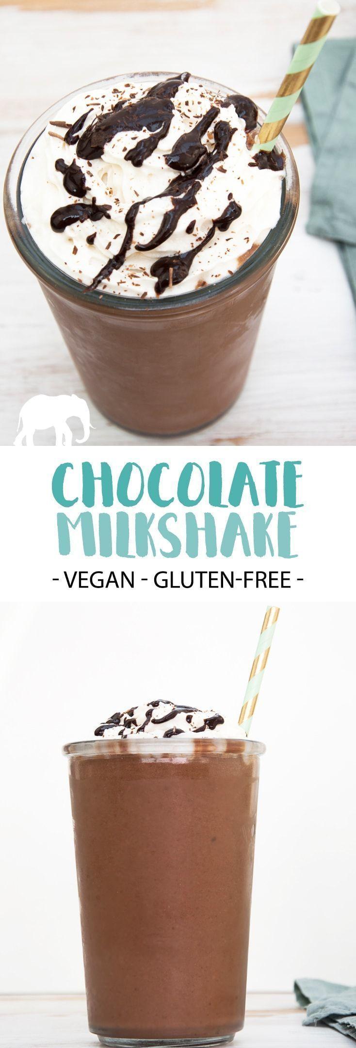 Milkshake - vegan and gluten-free |  via @elephantasticv