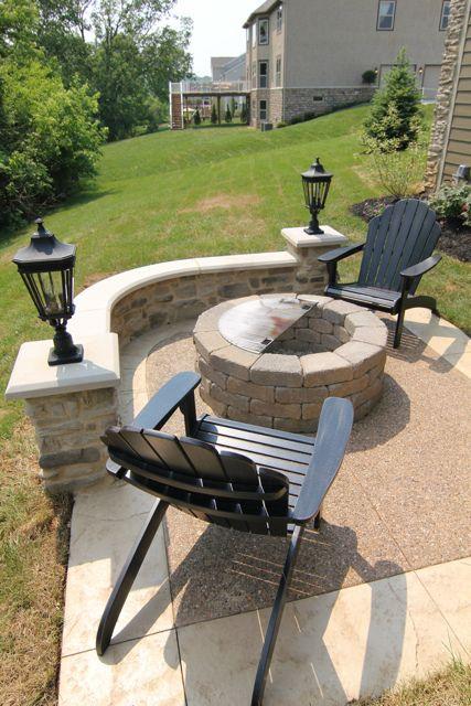 Small Fire Pit Patio Set: Backyard Landscaping