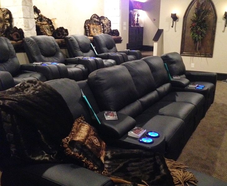 Gothic Media Room In Lubbock Tx Featured In The Parade Of Homes