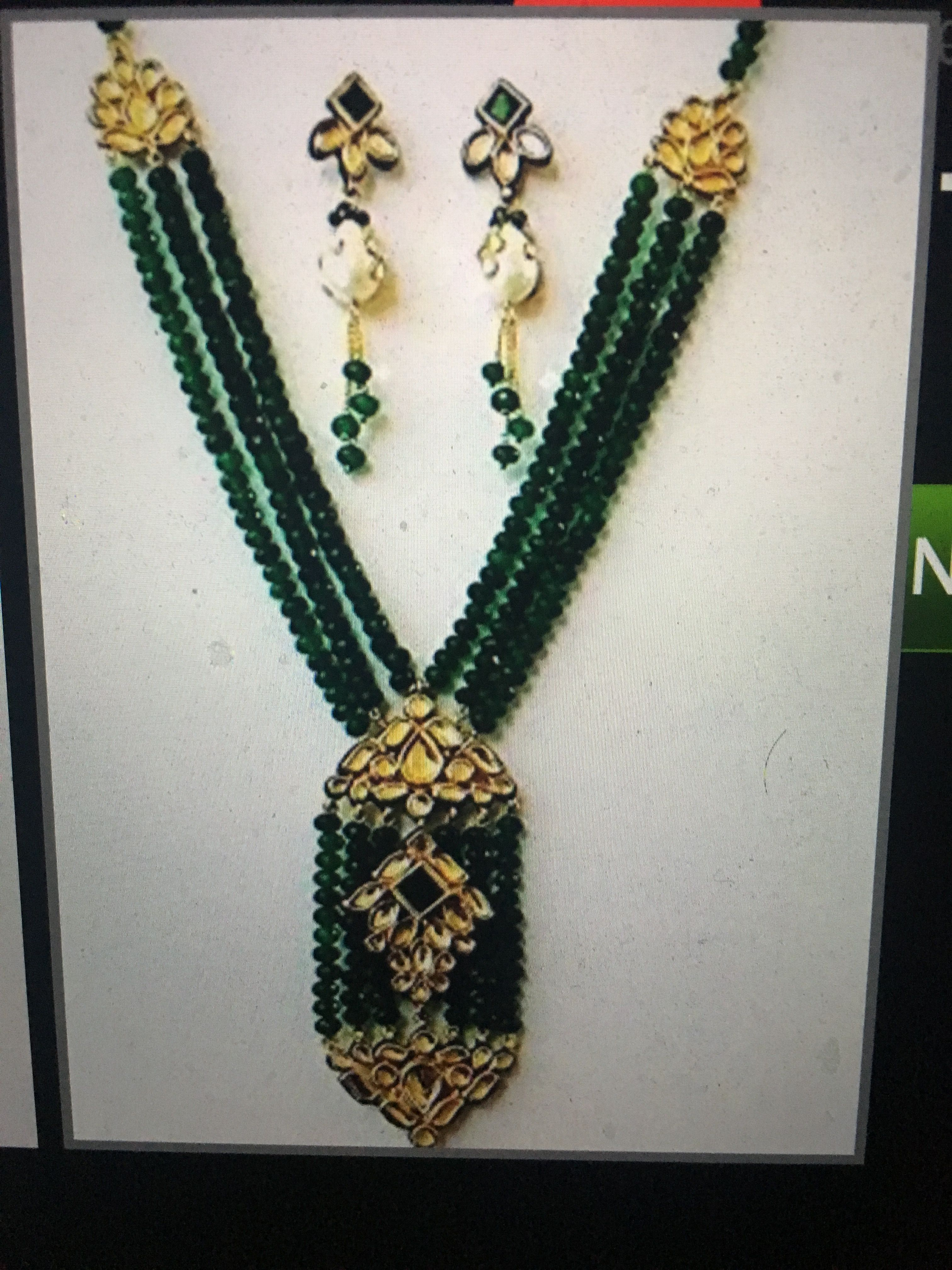 Pin by Bhoomi's on beadss Jewelry, Beads, Beaded necklace