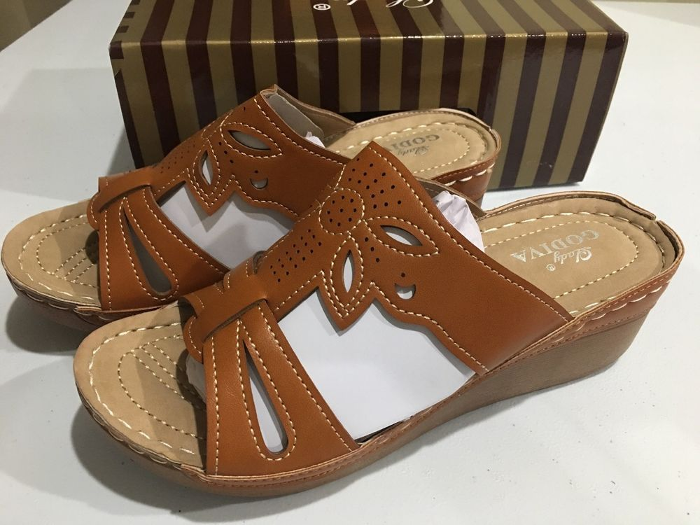 e632e2b575f Lady Godiva Laser Cut Out Detail Open Toe Comfort Platform Wedge Slip-on  Sandals  fashion  clothing  shoes  accessories  womensshoes  sandals (ebay  link)