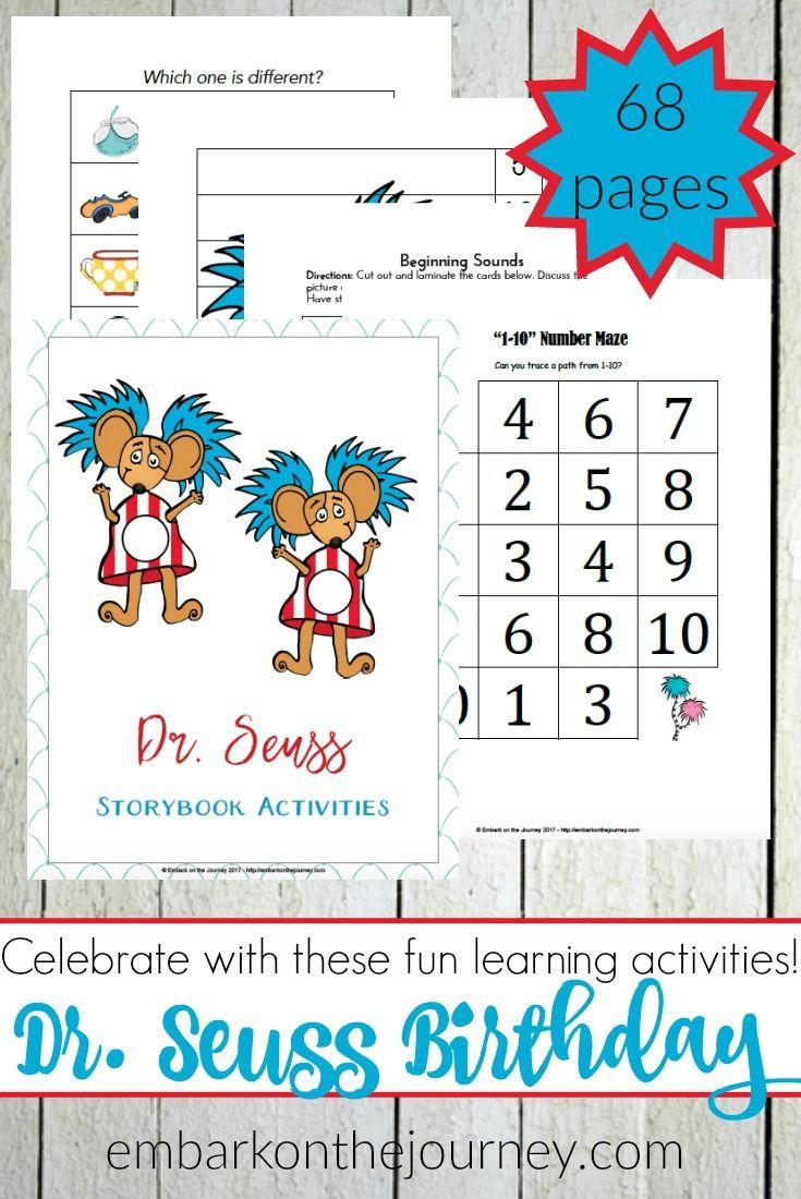Free Dr. Seuss Printable Pack | Pinterest | Números