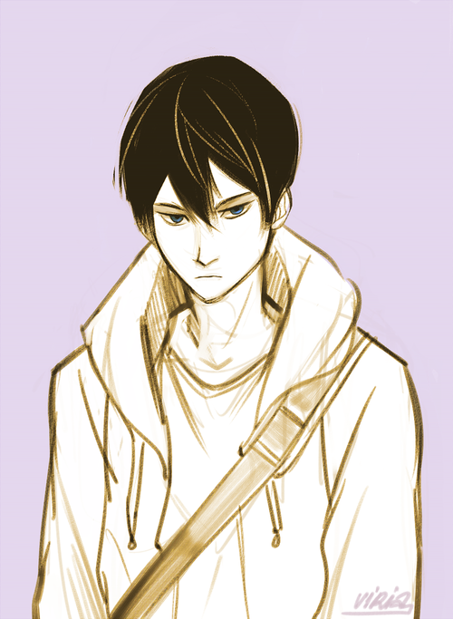Haru looks like the type of guy who will KILL you for hurting his friends and…