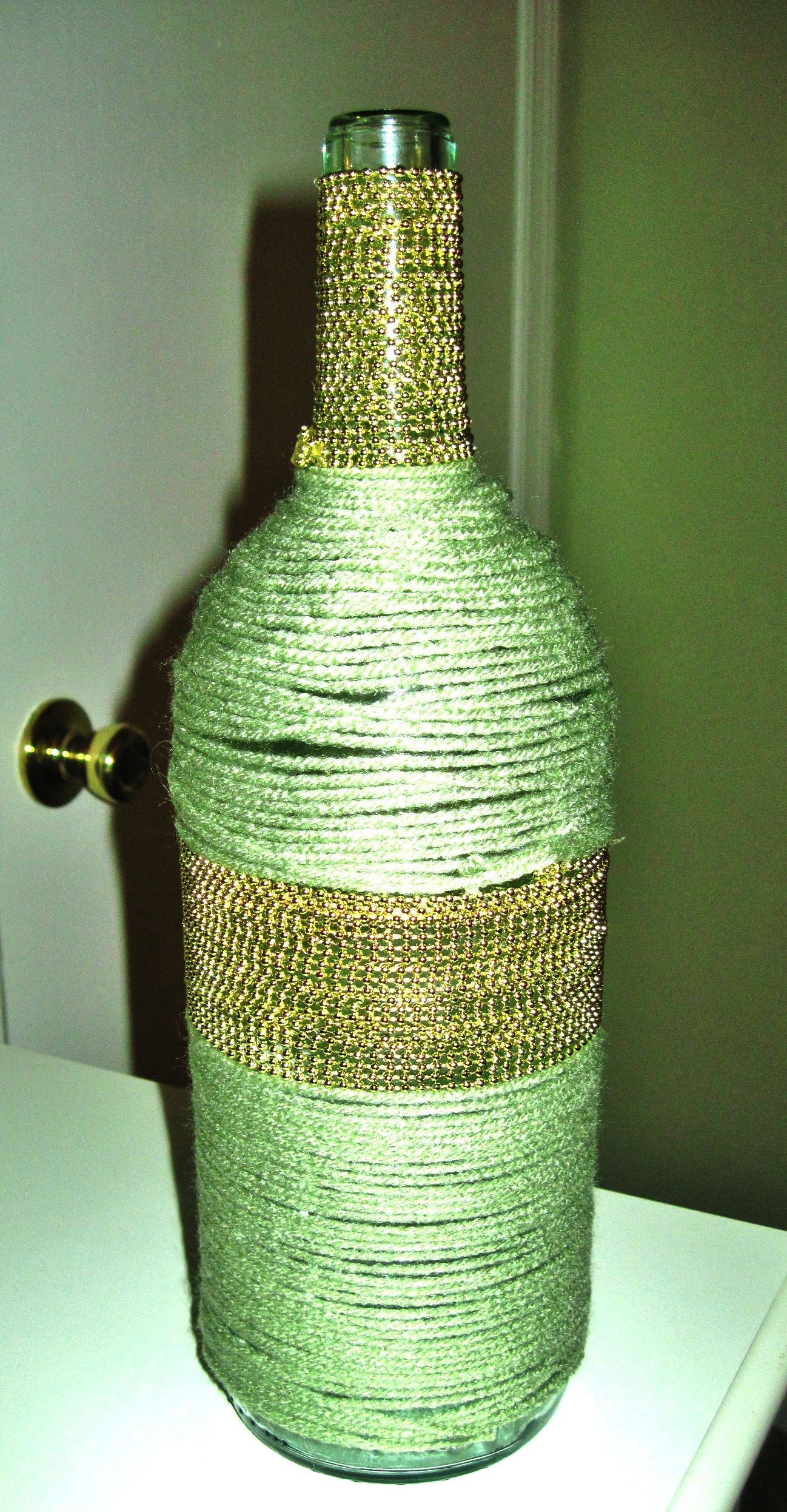 Wine bottle vase yarn and beads diy crafts pinterest wine find this pin and more on diy crafts wine bottle vase floridaeventfo Gallery