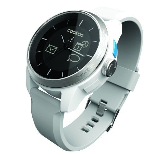 Cookoo SmartWatch, White  For the awesome Cookoo Smartwatches make sure you visit: http://www.smartwatchnet.com/product-category/smartwatches/cookoo/  #cookoo #smartwatch #wearables