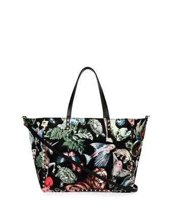 Rockstud Animalia Reversible Tote Bag, Multi by Valentino at Neiman Marcus.