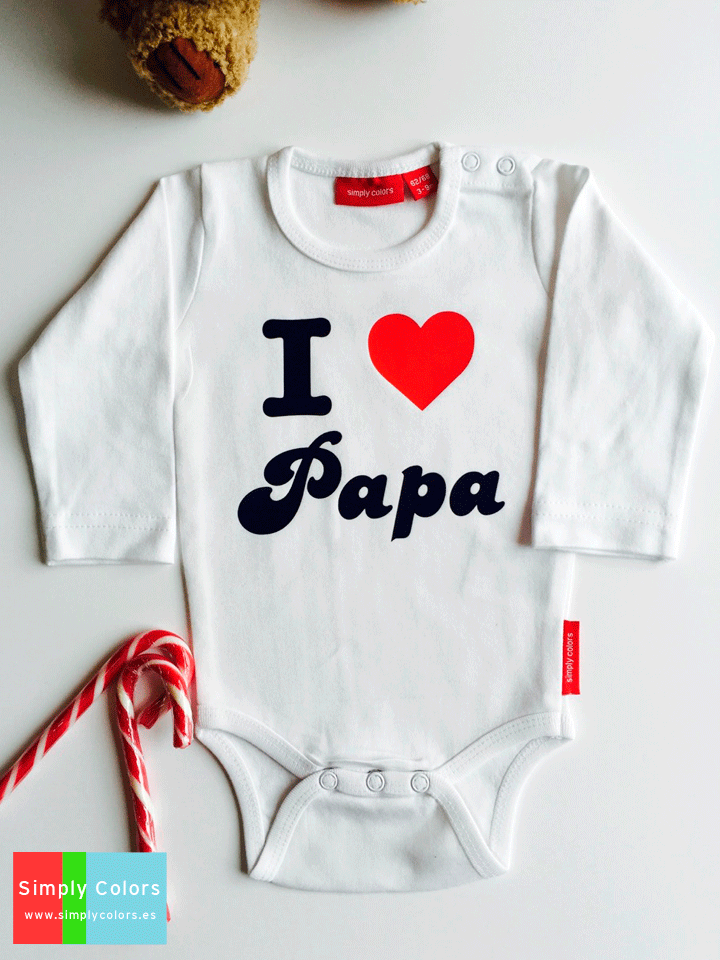 b7c2afad5 body bebe personalizado i love papa