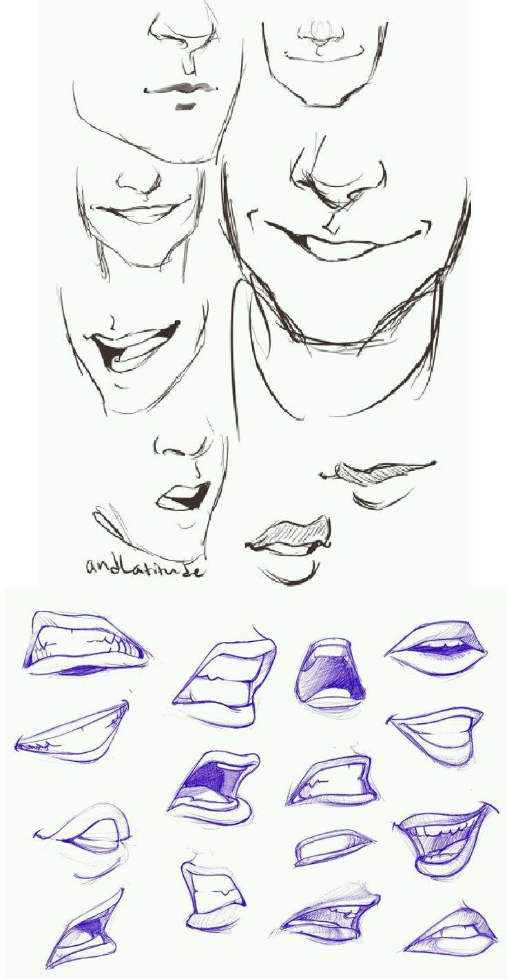 Sketches Mouth Drawing Drawing Reference Art Reference Photos