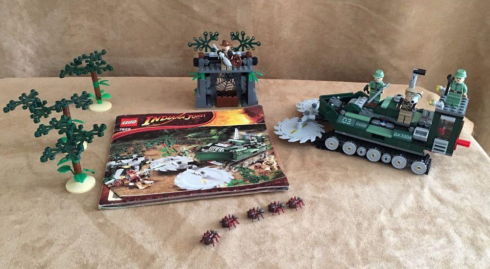 7626 Lego Complete Instructions Indiana Jones Jungle Cutter Vehicle