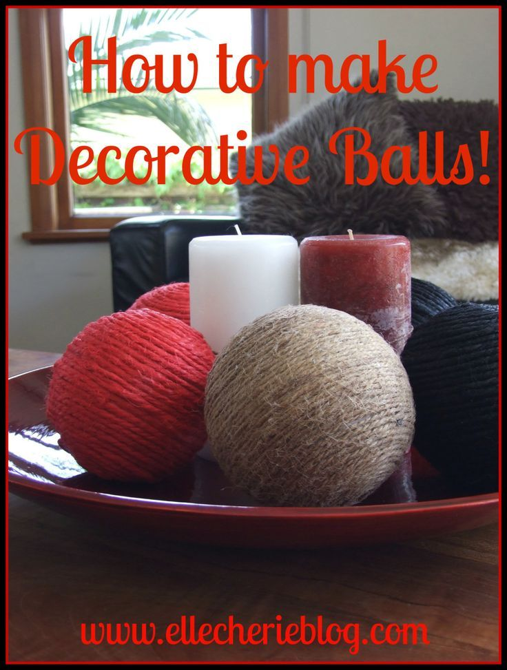 How To Make Decorative Balls Entrancing How To Make Decorative Balls That's Super Easy  Easy Diy Design Inspiration