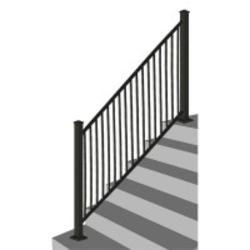 Best Designer S Image 72 X 34 Black Stair Rail Panel Black 400 x 300