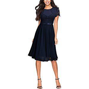Miusol Damen Abendkleid Sommer Chiffon festlich Kleid ...