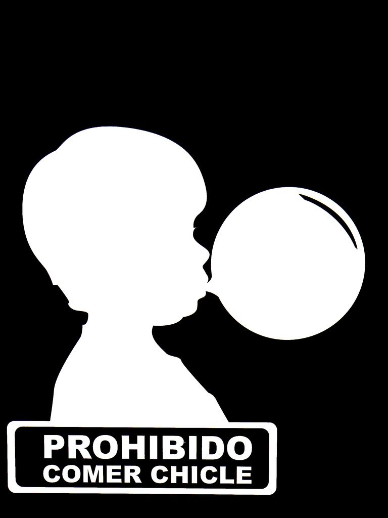 Prohibido comer chicle | Displays | Pinterest | Display