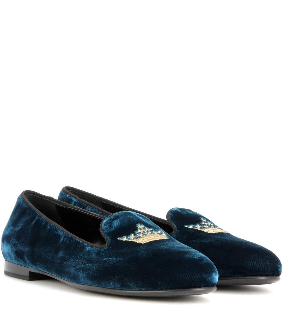 CHURCH'S Ingrid Velvet Loafers. #churchs #shoes #loafers