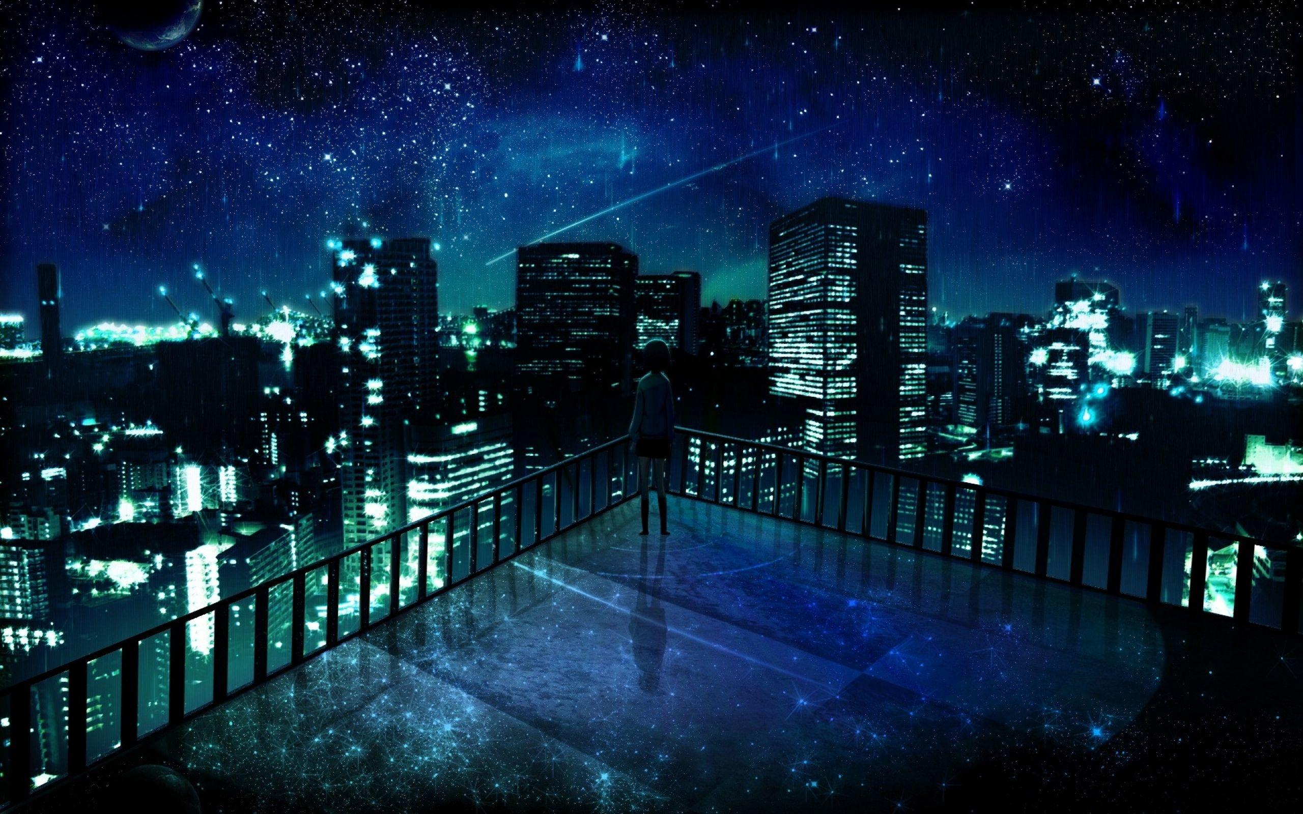 Night City Anime Wallpaper Desktop 72722 Wallpaper Anime Scenery