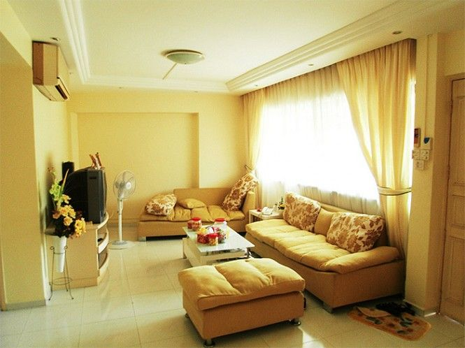 Traditional Yellow Living Room Walls Only