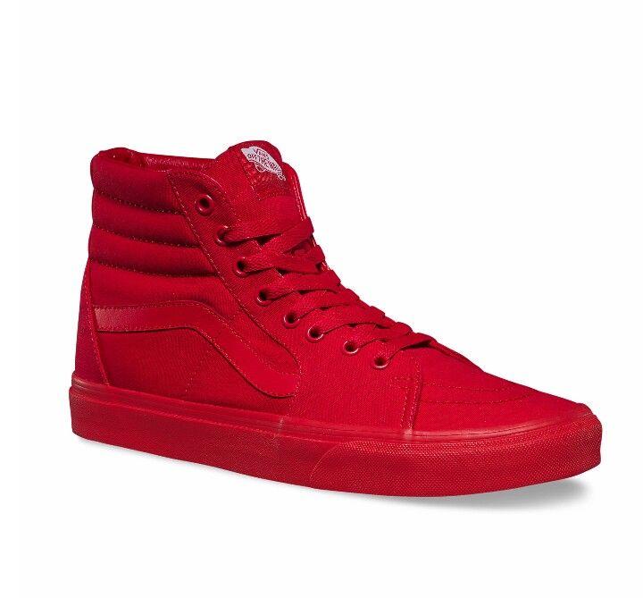 Red on red Skate Hi Vans!!! Mmmmm got em. | Vans sk8 high