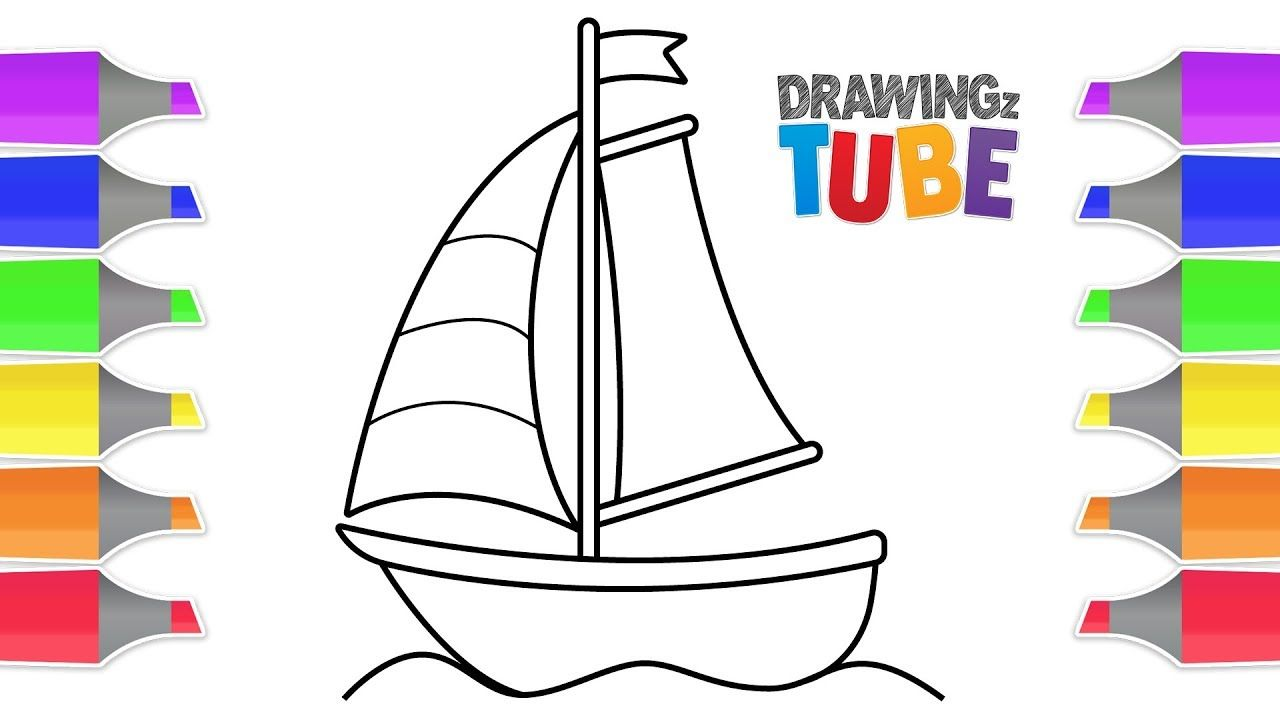 How To Draw A Boat For Kids Drawing For Kids Educational