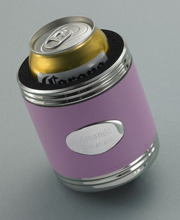 Personalized Pink Leather Koozie - Luxe Savvi Boutique