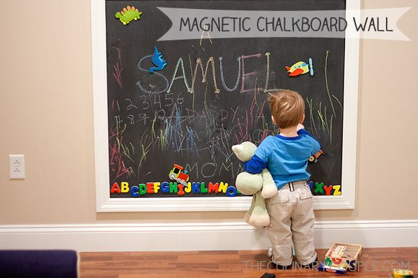 10 Things Your Playroom Can T Go Without Chalkboard Wall Kids Magnetic Chalkboard Wall Chalkboard Wall Diy