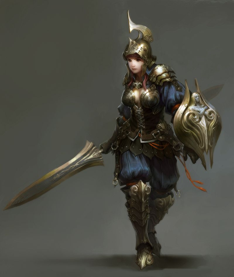Knight girl Picture (2d, character, knight, concept art ...