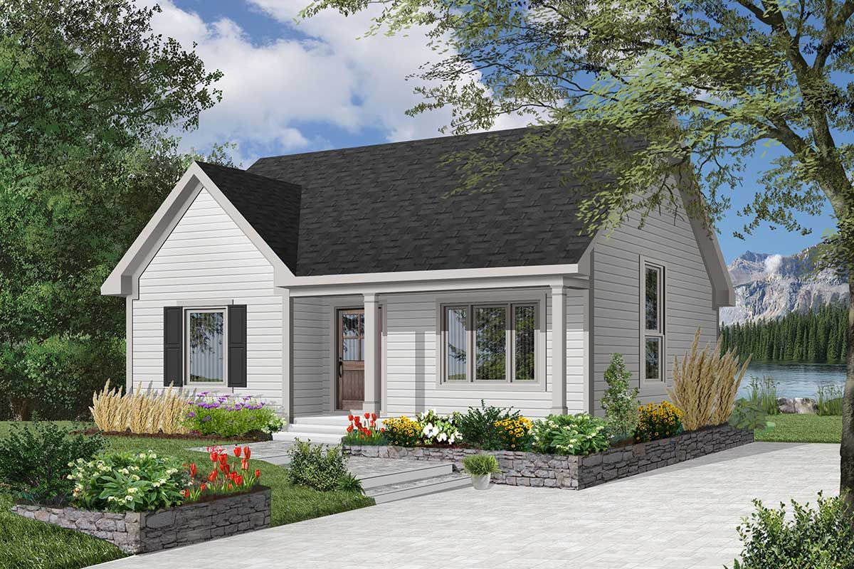 Plan 2112dr Compact Country Bungalow Bungalow House Plans Cottage House Plans House Plans