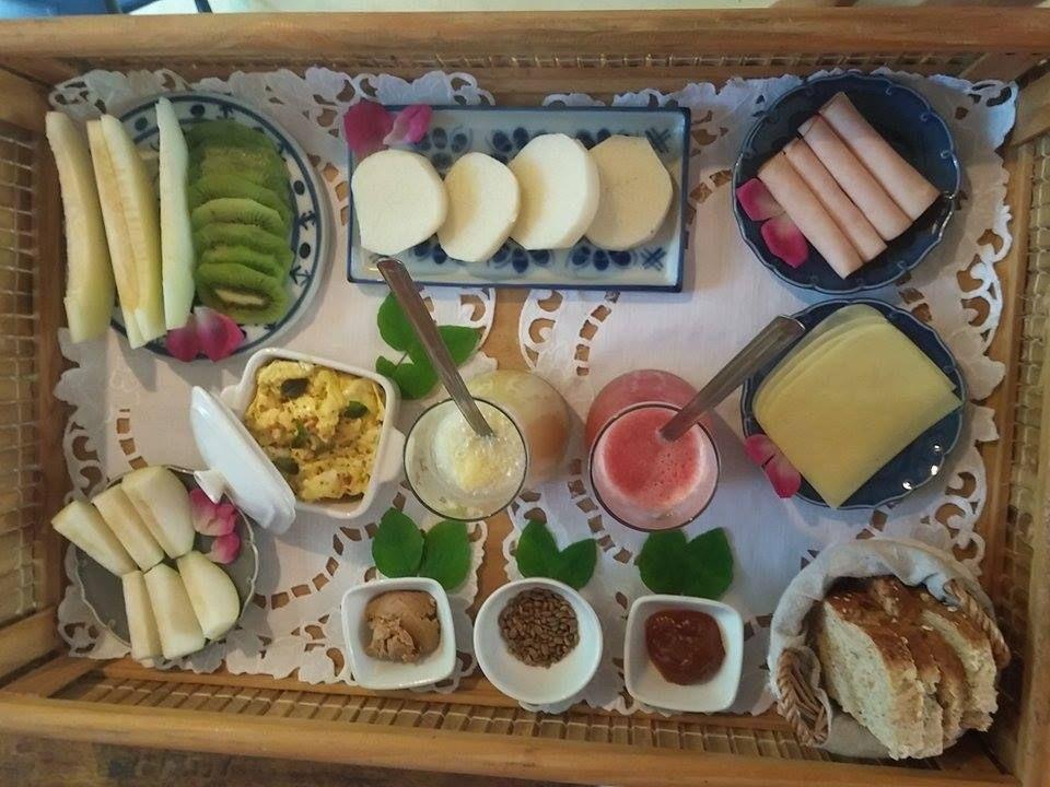 Café da Manhã - Gluten Free - Breakfast - Peninsula de Maraú - BAHIA - Brazil - Desjejum - Café da manhã na cama ...Só na Caiçara ...